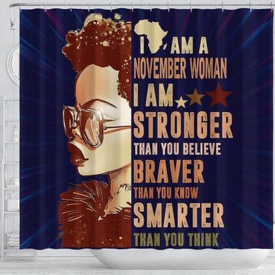 BigProStore Awesome I Am A November Woman Afrocentric Shower Curtains African Bathroom Decor BPS037 Shower Curtain