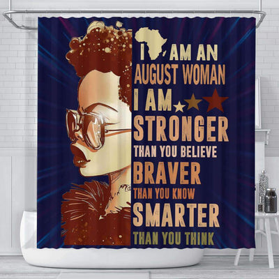 BigProStore Awesome I Am An August Woman Afrocentric Shower Curtains Afro Bathroom Decor BPS088 Small (165x180cm | 65x72in) Shower Curtain