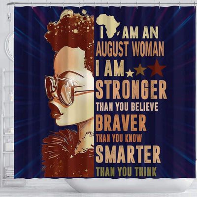 BigProStore Awesome I Am An August Woman Afrocentric Shower Curtains Afro Bathroom Decor BPS088 Shower Curtain