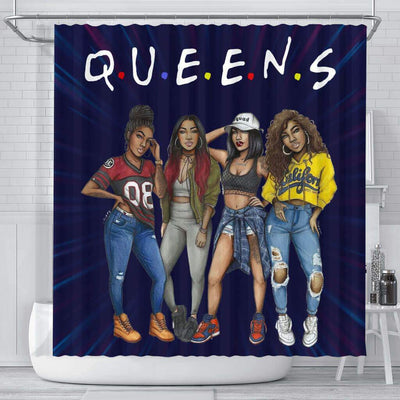 BigProStore Awesome Melanin Girls Queens Shower Curtains African American African Bathroom Accessories BPS154 Small (165x180cm | 65x72in) Shower Curtain