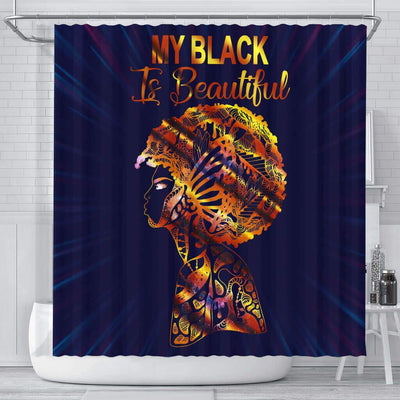 BigProStore Awesome My Black Is Beautiful Afro American Shower Curtains Afro Bathroom Decor BPS172 Small (165x180cm | 65x72in) Shower Curtain