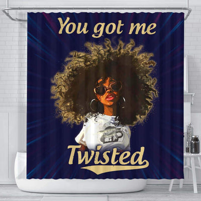 BigProStore Awesome You Got Me Twisted Afro Girl Afro American Shower Curtains Afro Bathroom Decor BPS242 Small (165x180cm | 65x72in) Shower Curtain