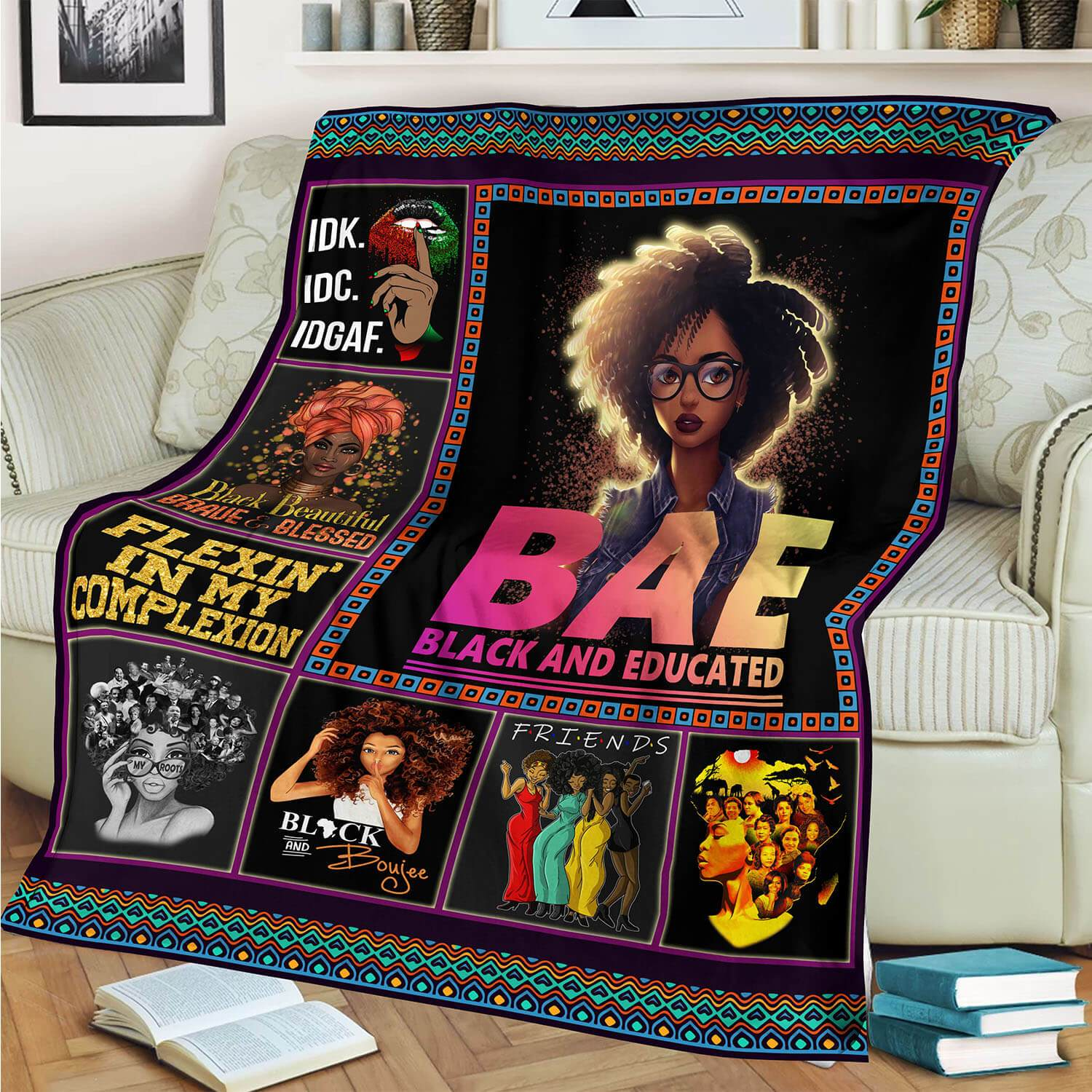 BAE Black And Educated Blanket