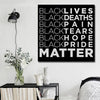 BigProStore African American Canvas Art Black Lives Deaths Pain Tears Hope Pride Matter Black History Inspired Living Room Decor Apparel
