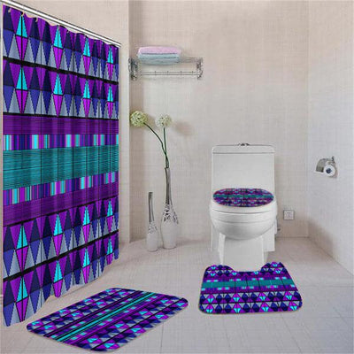 BigProStore Beautiful African Afrocentric Art Bathroom Shower Curtain Set 4pcs Nice Afrocentric Bathroom Decor BPS3261 Standard (180x180cm | 72x72in) Bathroom Sets