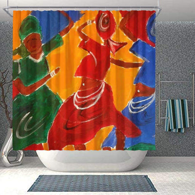 BigProStore Beautiful African American Black Art Shower Curtain Melanin Afro Woman Bathroom Designs BPS0179 Small (165x180cm | 65x72in) Shower Curtain