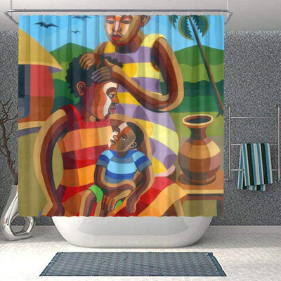 BigProStore Beautiful African American Shower Curtains African Woman Bathroom Decor Idea BPS0052 Small (165x180cm | 65x72in) Shower Curtain