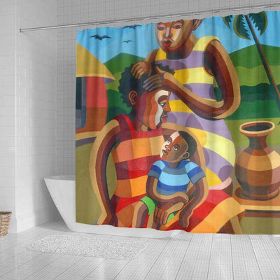 BigProStore Beautiful African American Shower Curtains African Woman Bathroom Decor Idea BPS0052 Shower Curtain
