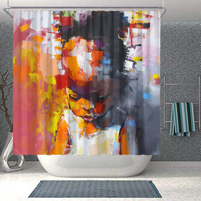 BigProStore Beautiful African American Shower Curtains Black Girl Bathroom Decor BPS0260 Small (165x180cm | 65x72in) Shower Curtain