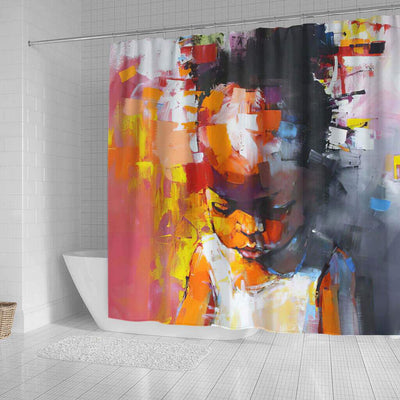 BigProStore Beautiful African American Shower Curtains Black Girl Bathroom Decor BPS0260 Shower Curtain