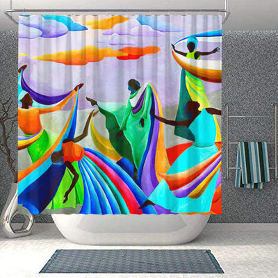 BigProStore Beautiful African Inspired Shower Curtains African Queen Bathroom Decor BPS0067 Small (165x180cm | 65x72in) Shower Curtain