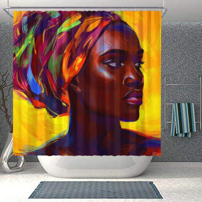 BigProStore Beautiful African Inspired Shower Curtains Afro Girl Bathroom Decor Accessories BPS0146 Small (165x180cm | 65x72in) Shower Curtain