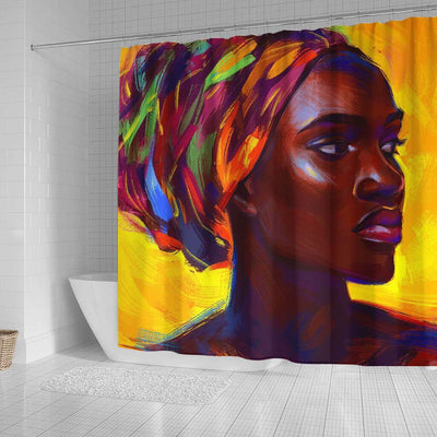 BigProStore Beautiful African Inspired Shower Curtains Afro Girl Bathroom Decor Accessories BPS0146 Shower Curtain