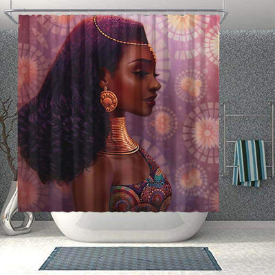 BigProStore Beautiful African Inspired Shower Curtains Melanin Woman Bathroom Decor BPS0190 Small (165x180cm | 65x72in) Shower Curtain