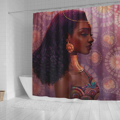 BigProStore Beautiful African Inspired Shower Curtains Melanin Woman Bathroom Decor BPS0190 Shower Curtain