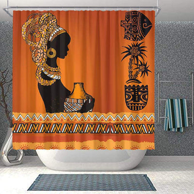 BigProStore Beautiful African Print Shower Curtains Afro Girl Bathroom Decor BPS0266 Small (165x180cm | 65x72in) Shower Curtain