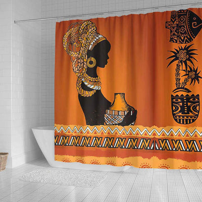 BigProStore Beautiful African Print Shower Curtains Afro Girl Bathroom Decor BPS0266 Shower Curtain