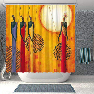 BigProStore Beautiful African Shower Curtain African Girl Bathroom Designs BPS0042 Small (165x180cm | 65x72in) Shower Curtain