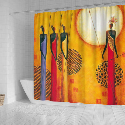 BigProStore Beautiful African Shower Curtain African Girl Bathroom Designs BPS0042 Shower Curtain