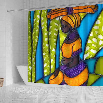 BigProStore Beautiful African Shower Curtain Black Girl Bathroom Decor Idea BPS0071 Shower Curtain