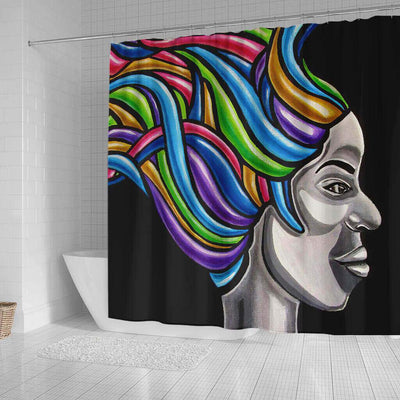 BigProStore Beautiful Afro American Shower Curtains Black Queen Bathroom Accessories BPS0254 Shower Curtain