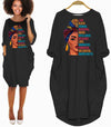 BigProStore African American Dresses I Am Black Woman Beautiful Magic Long Sleeve Pocket Shirt Summer Dress Afrocentric Clothing Black / S (4-6 US)(8 UK) Women Dress