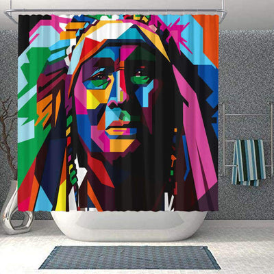BigProStore Beautiful Natural Hair Shower Curtain African Girl Bathroom Accessories BPS0046 Small (165x180cm | 65x72in) Shower Curtain