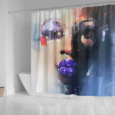 BigProStore Beautiful Natural Hair Shower Curtain African Lady Bathroom Designs BPS0212 Shower Curtain