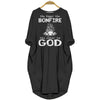 Bigger The Bonfire The Closer To God Women Pocket Dress