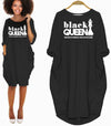 BigProStore African Dresses Black Queen The Most Powerful Piece In Game Women Dress Melanin Shirt Afrocentric Apparel Women Dress