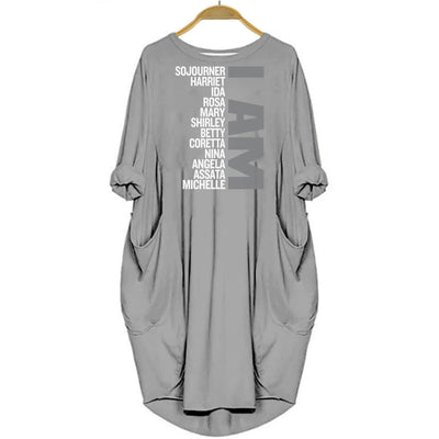 BigProStore I Am Sojourner Harriet Melanin Women Summer Dress Gray / S Women Dress