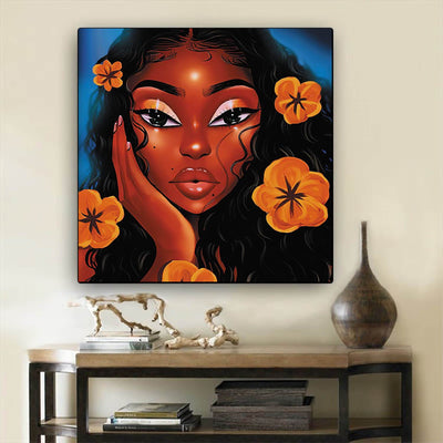 "BigProStore Black History Art Beautiful African American Girl African American Wall Art And Decor Afrocentric Decorating Ideas BPS21968 12"" x 12"" x 0.75"" Square Canvas"