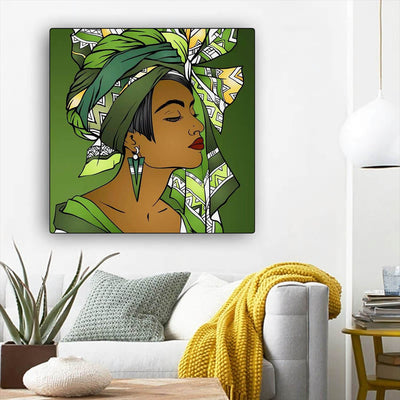 "BigProStore Black History Art Beautiful Afro American Girl African American Women Art Afrocentric Home Decor BPS25689 12"" x 12"" x 0.75"" Square Canvas"