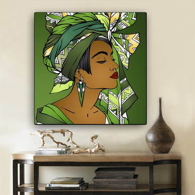 "BigProStore Black History Art Beautiful Afro American Girl African American Women Art Afrocentric Home Decor BPS25689 24"" x 24"" x 0.75"" Square Canvas"