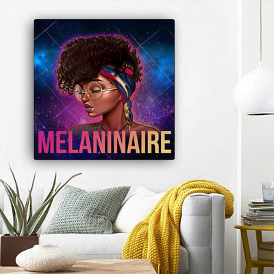 "BigProStore Black History Art Beautiful Afro American Woman African Canvas Afrocentric Home Decor BPS97958 12"" x 12"" x 0.75"" Square Canvas"