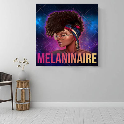 "BigProStore Black History Art Beautiful Afro American Woman African Canvas Afrocentric Home Decor BPS97958 16"" x 16"" x 0.75"" Square Canvas"