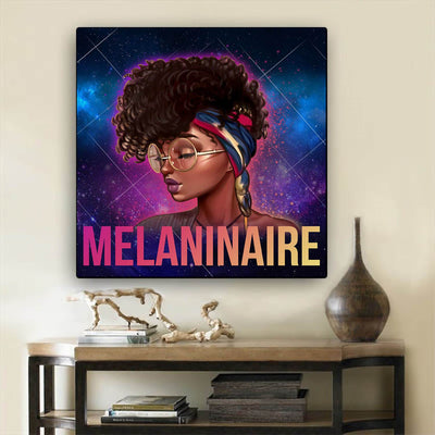 "BigProStore Black History Art Beautiful Afro American Woman African Canvas Afrocentric Home Decor BPS97958 24"" x 24"" x 0.75"" Square Canvas"