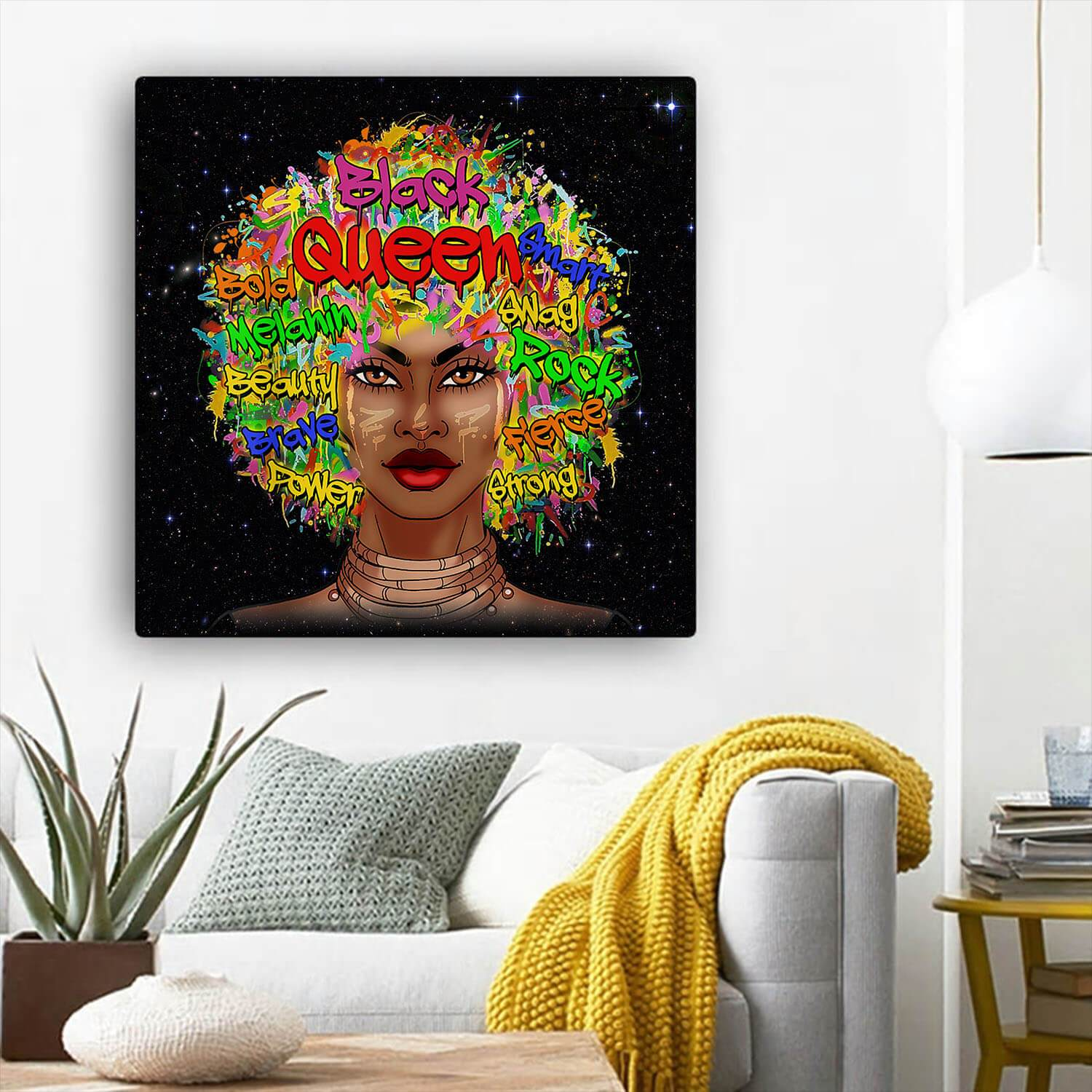 Black History Art Beautiful Afro Girl Modern Black Art Afrocentric Hom Bigprostore
