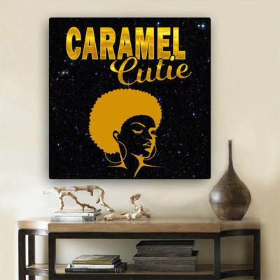 "BigProStore Black History Art Beautiful Black Afro Girls African Canvas Afrocentric Decorating Ideas BPS75009 24"" x 24"" x 0.75"" Square Canvas"
