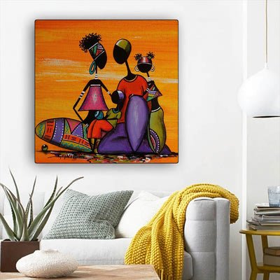 "BigProStore Black History Art Beautiful Black Girl Black History Wall Art Afrocentric Decor BPS14234 12"" x 12"" x 0.75"" Square Canvas"