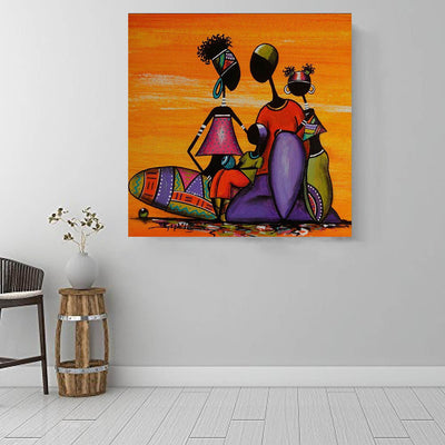 "BigProStore Black History Art Beautiful Black Girl Black History Wall Art Afrocentric Decor BPS14234 16"" x 16"" x 0.75"" Square Canvas"