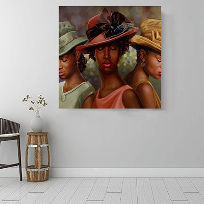 "BigProStore Black History Art Beautiful Melanin Girl African American Black Art Afrocentric Home Decor Ideas BPS55500 16"" x 16"" x 0.75"" Square Canvas"