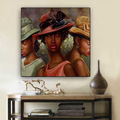 "BigProStore Black History Art Beautiful Melanin Girl African American Black Art Afrocentric Home Decor Ideas BPS55500 24"" x 24"" x 0.75"" Square Canvas"