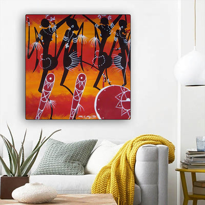 "BigProStore Black History Art Cute Black Girl Afrocentric Wall Art Afrocentric Home Decor Ideas BPS43497 12"" x 12"" x 0.75"" Square Canvas"