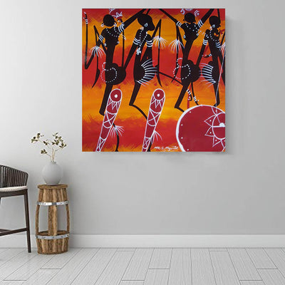"BigProStore Black History Art Cute Black Girl Afrocentric Wall Art Afrocentric Home Decor Ideas BPS43497 16"" x 16"" x 0.75"" Square Canvas"