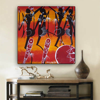 "BigProStore Black History Art Cute Black Girl Afrocentric Wall Art Afrocentric Home Decor Ideas BPS43497 24"" x 24"" x 0.75"" Square Canvas"
