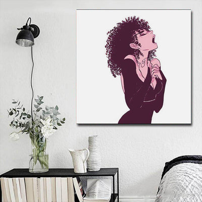 "BigProStore Black History Art Pretty African American Female African American Prints Afrocentric Decor BPS53271 16"" x 16"" x 0.75"" Square Canvas"