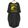BigProStore Brooms Are For Amateurs Halloween Horse Riding Women Pocket Dress Black / S Women Dress