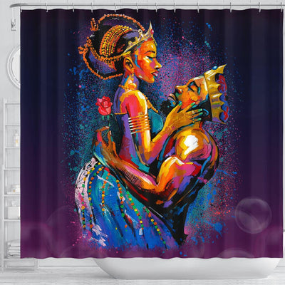BigProStore Cool African American King and Queen Black History Shower Curtains Afrocentric Style Designs BPS014 Shower Curtain
