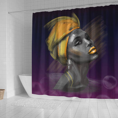 BigProStore Cool Beautiful Melanin Woman Black African American Shower Curtains African Bathroom Decor BPS069 Small (165x180cm | 65x72in) Shower Curtain